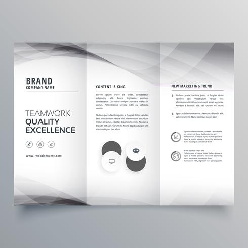 elegant gray trifold business brochure design