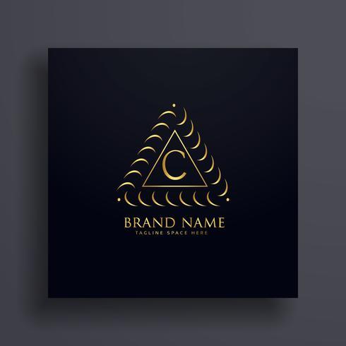 stilvolle Buchstabe C Premium-Logo-Design-Konzept