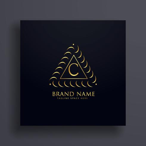 stylish letter C premium logo design concept