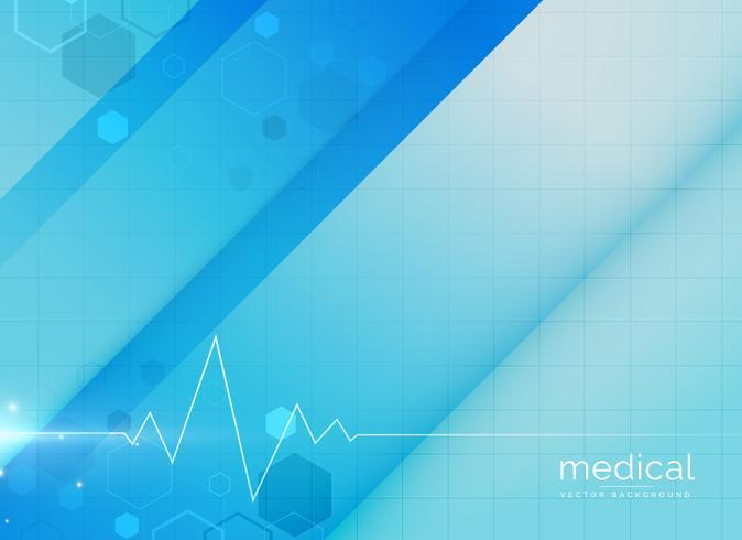blaue medizinische Hintergrund-Design-illustration