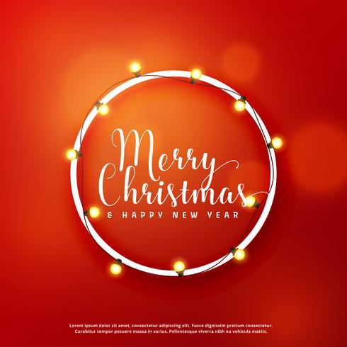 Merry Christmas Card Design With Light Frame Download Free Vector - Luxury christmas card templates for photographers 2014 scheme