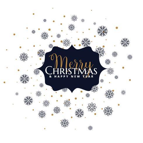 god jul bokstäver på snöflingor bakgrund