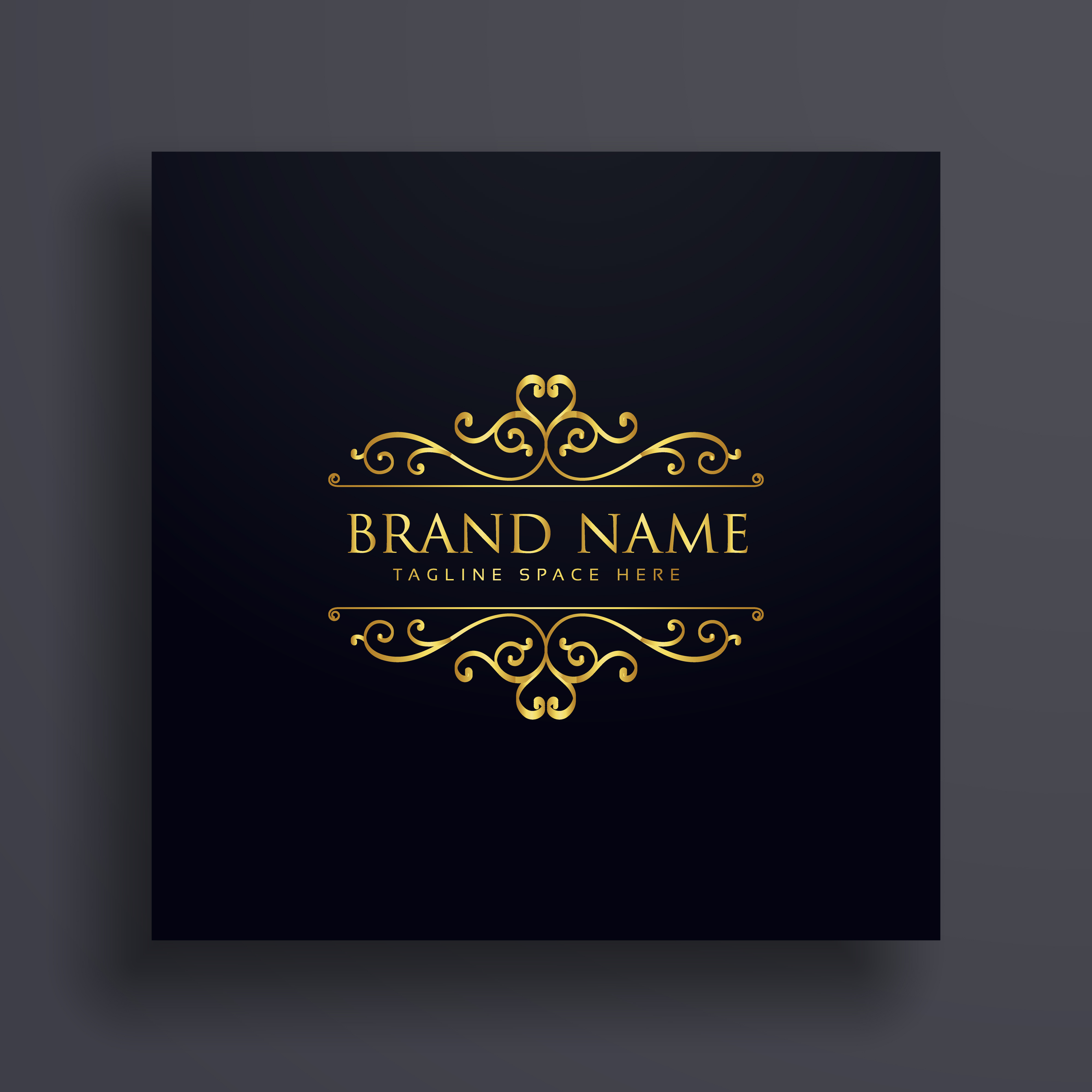 luxury vip logo concept design for your brand with floral