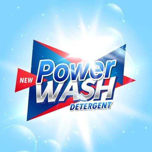 plantilla de concepto de embalaje de producto de detergente creativo de lavandería
