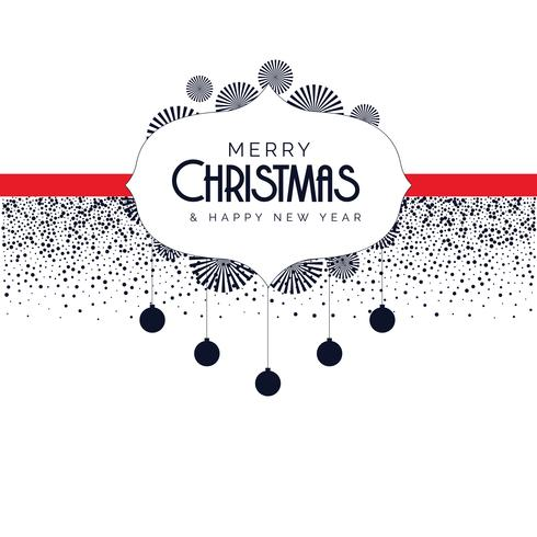 Fondo de Navidad con elementos decorativos