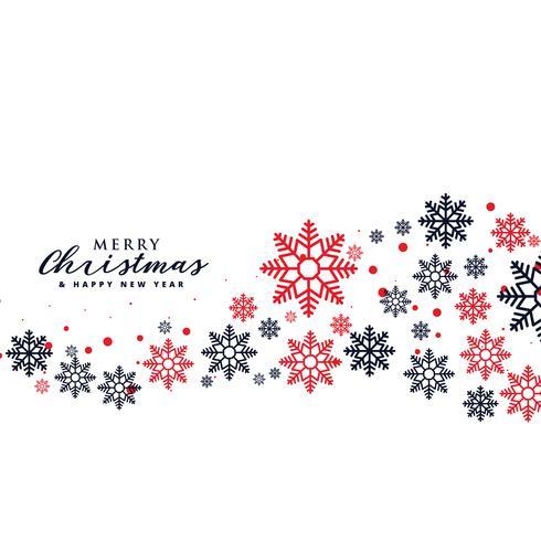 snygg snöflingor bakgrund för julhelgdag