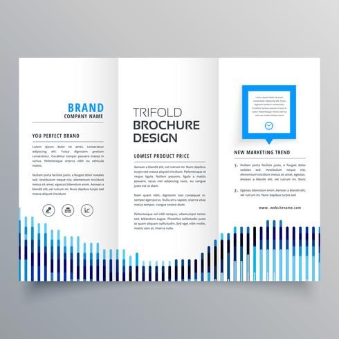 Creative Blue Trifold Business Brochure Design Template  Download