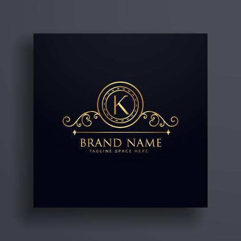 conception de la lettre premium K marque logo concept