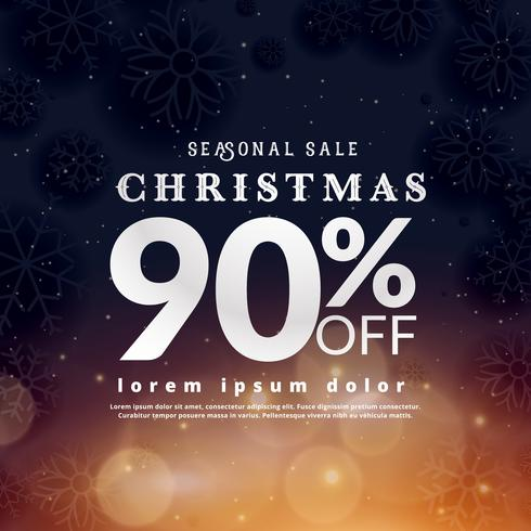 christmas sale voucher design with offer details