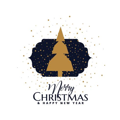 conception de carte de voeux joyeux Noël avec arbre d'or