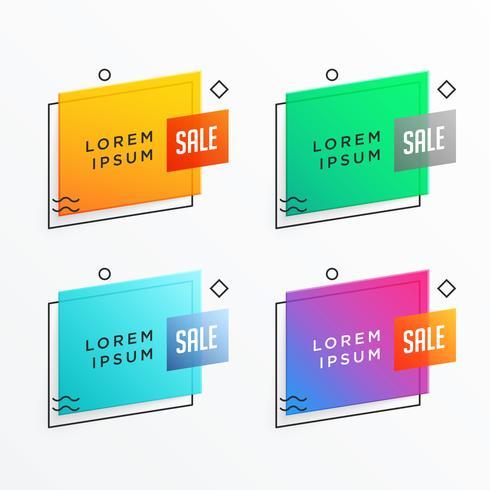geometrisk försäljning banner mall design i memphis stil