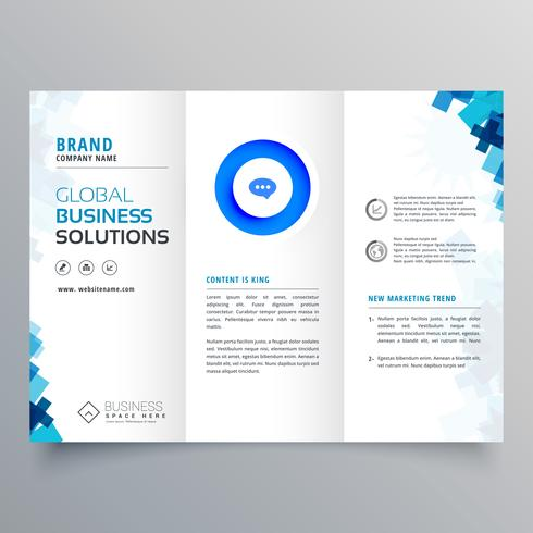 trifold business brochure vector design template