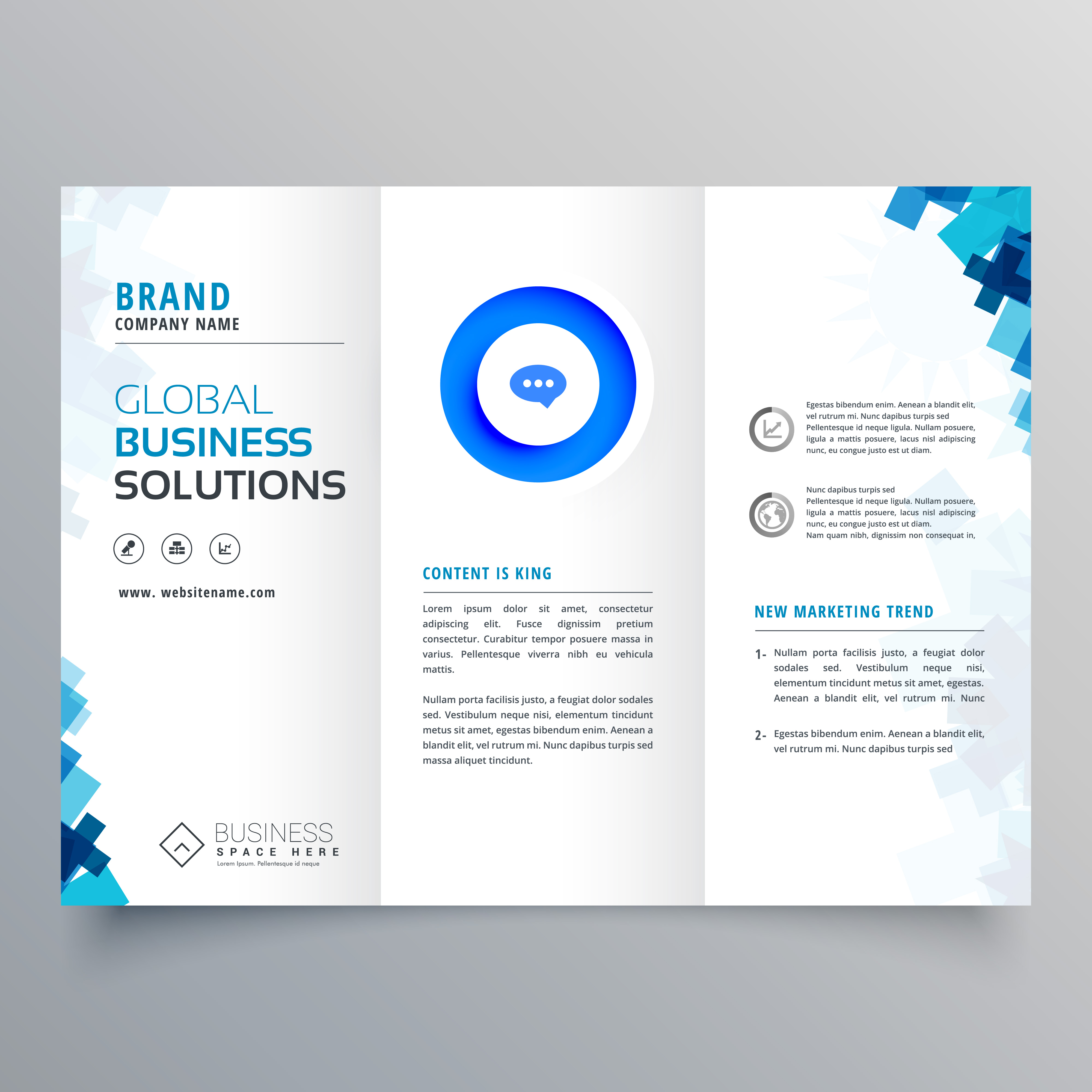 company brochure template free - trifold business brochure vector design template