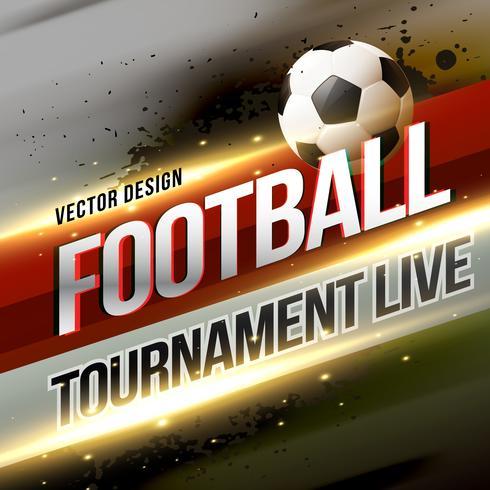 diffusion de tournoi de football lbackground design