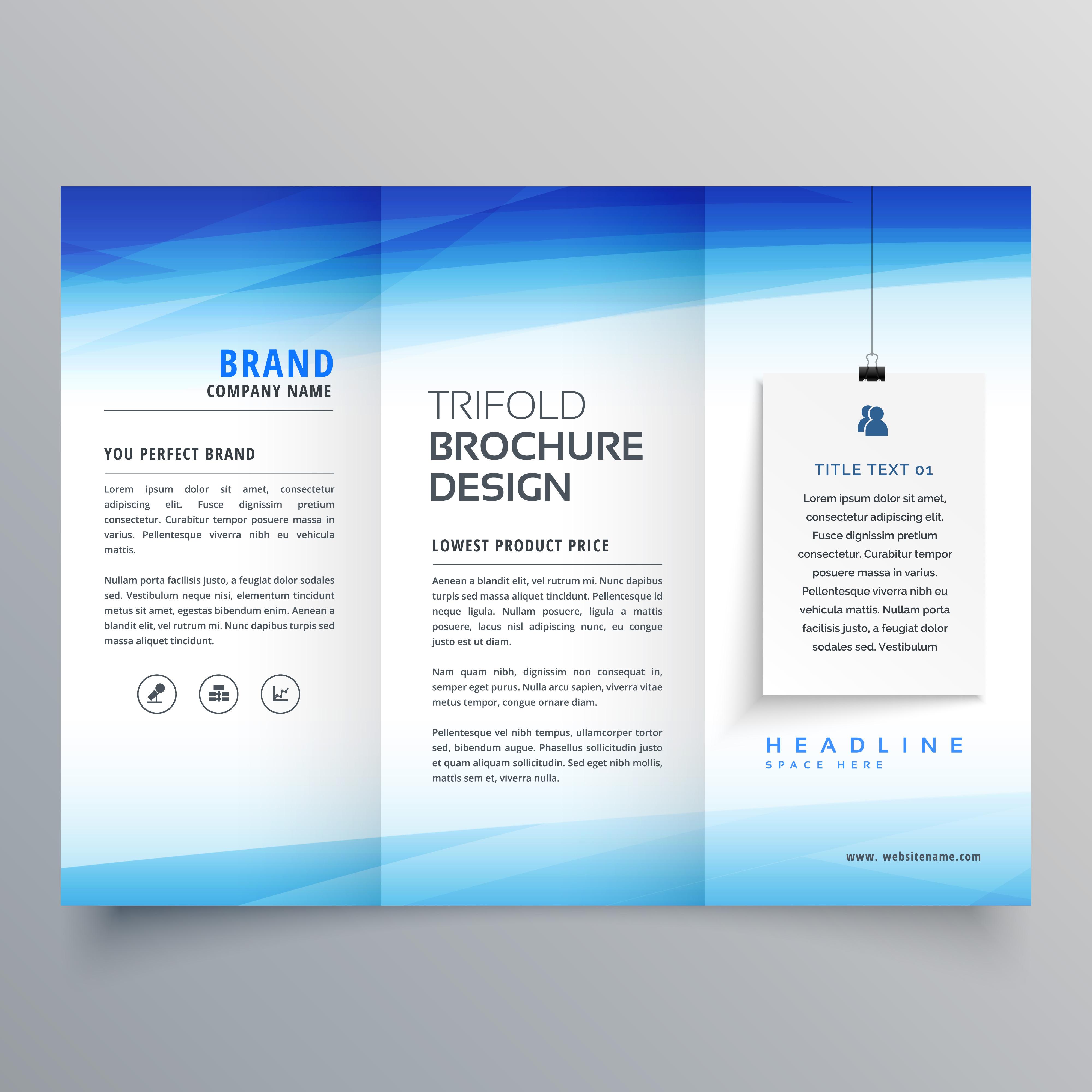 Elegant trifold brochure design template download free for Classy brochure design