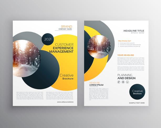 Modern Yellow Geometric Flyer Poster Design Template  Download Free