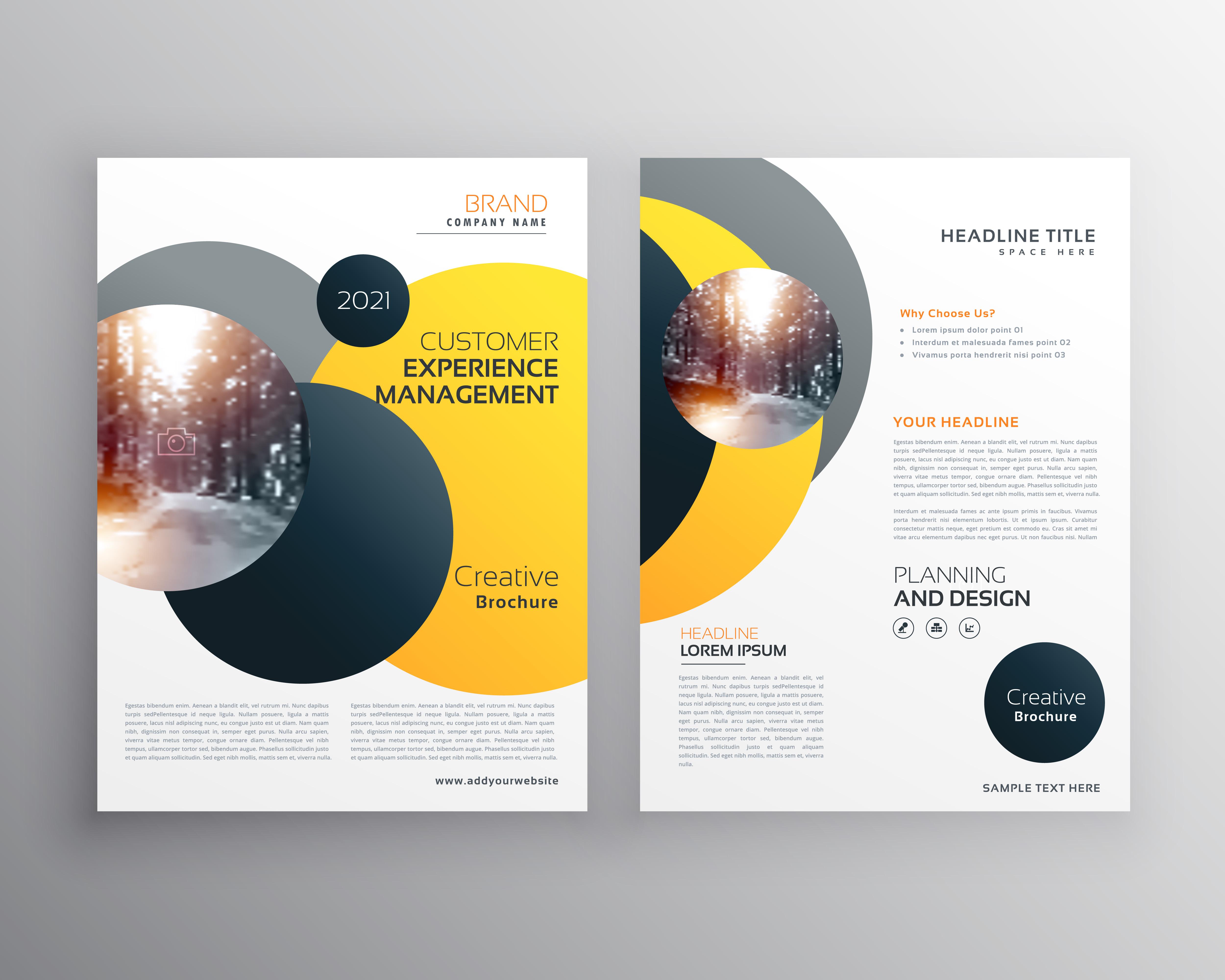 modern yellow geometric flyer poster design template