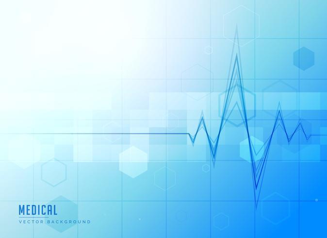 blå medicinsk ljus bakgrund med elektrokardiogram