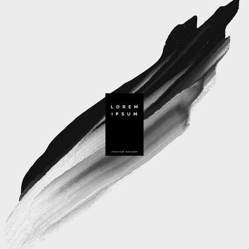 svart färg brish stroke akvarell bakgrund