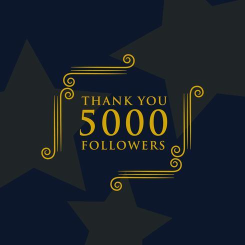 social media 5000 followers thank you message design