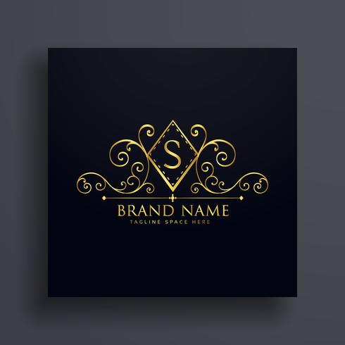 luxury logo concept design with letter S
