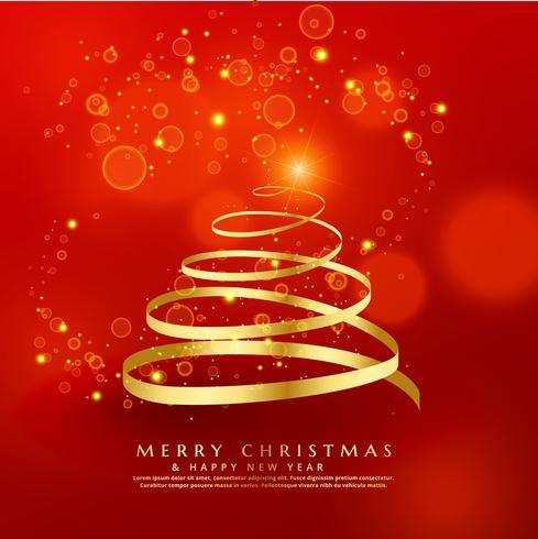 Gyllene virvlar julgran design med gnistrar