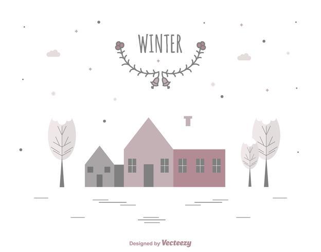 Carte d'hiver minimale vecteur