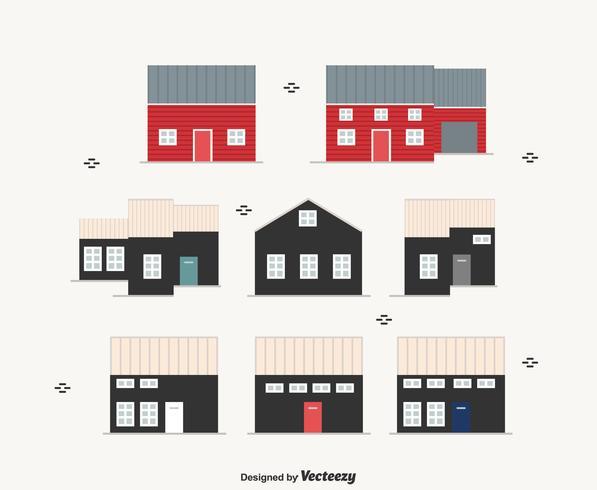 Skandinavische Häuser Vector Set