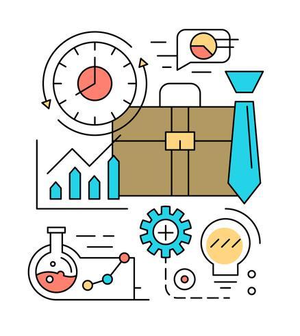 Free Linear Business Illustration