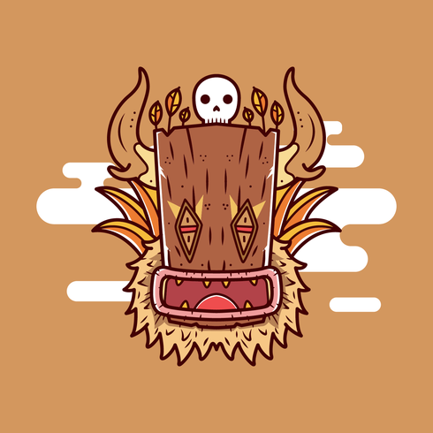 Gratis Shaman Head Vector