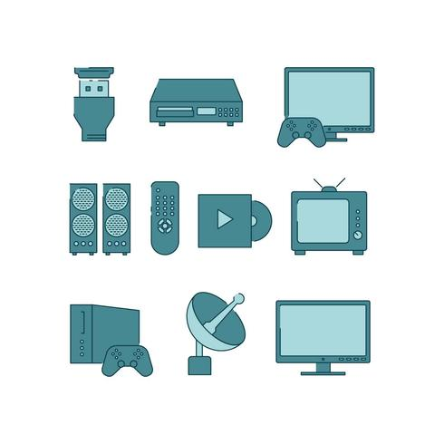 Home Entertainment Icon Vector