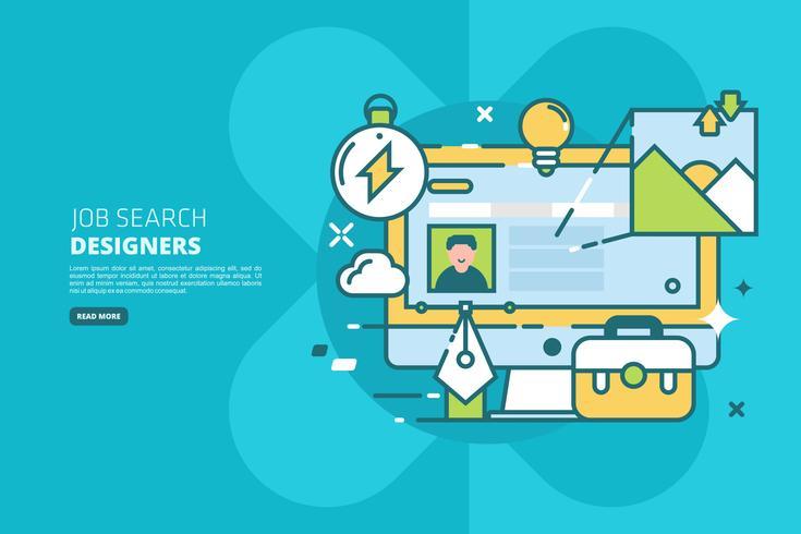 Illustration de recherche d'emploi