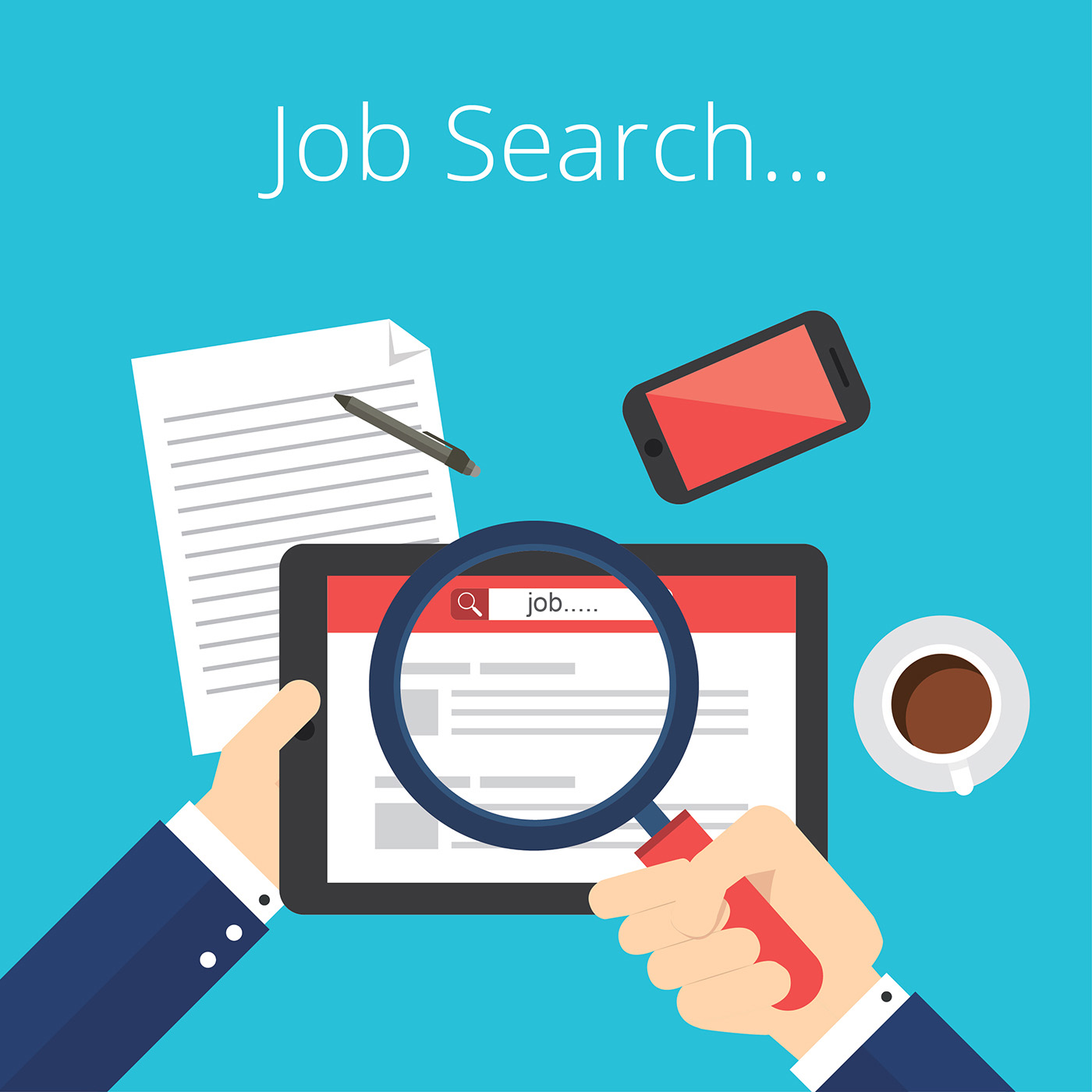 job search free vector