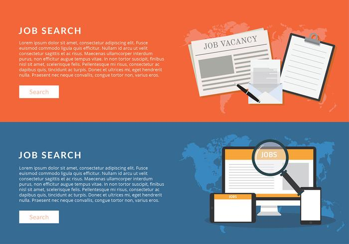 Job Search Banner Free Vector