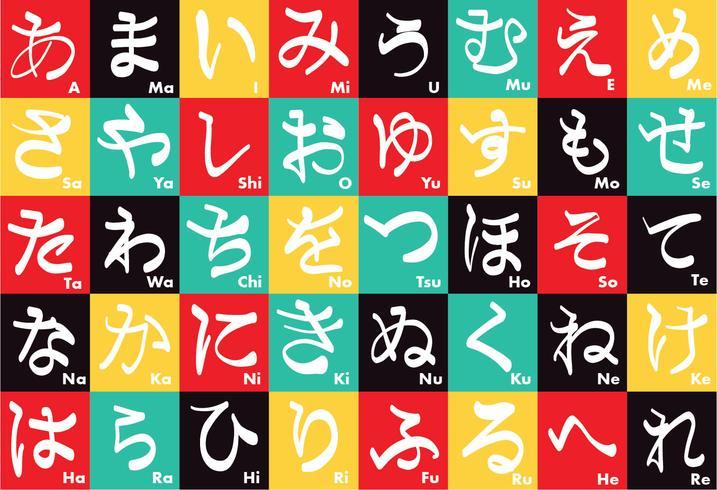 Japanese Letter Vector Pack