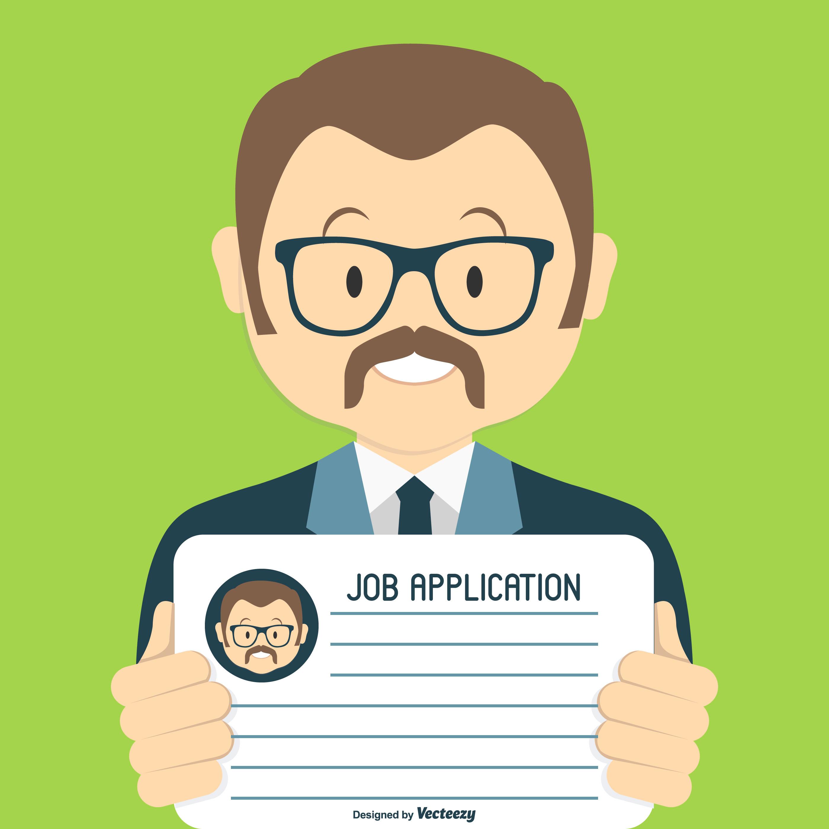 job application free vector art
