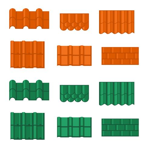 Roof Tile Vector Icons