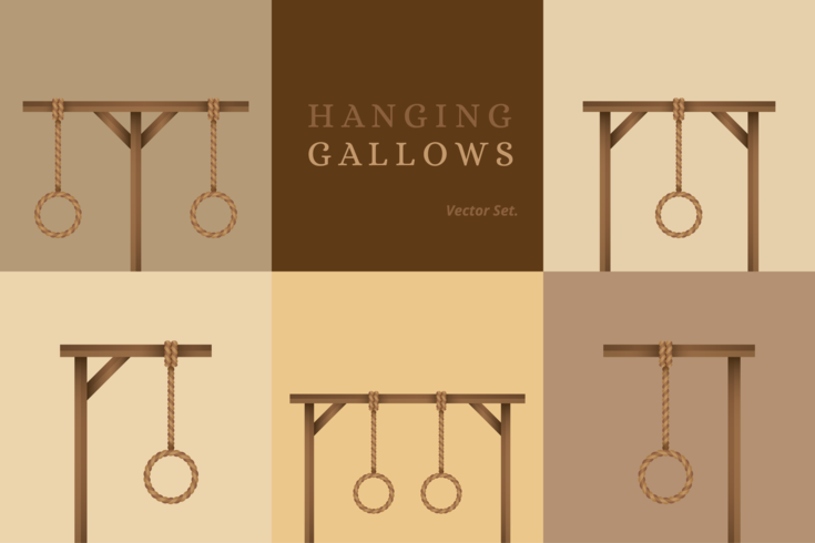 Ensemble de vecteur de Gallows suspendus
