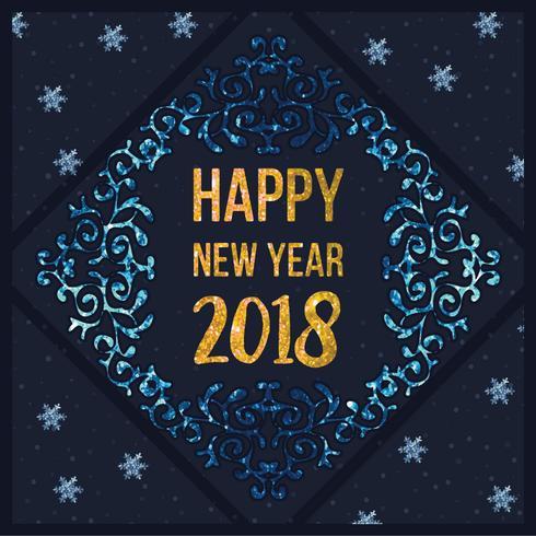 Vektor gott nytt år kort
