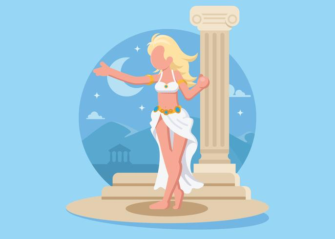 Kvinnlig gudinna Aphrodite Illustration