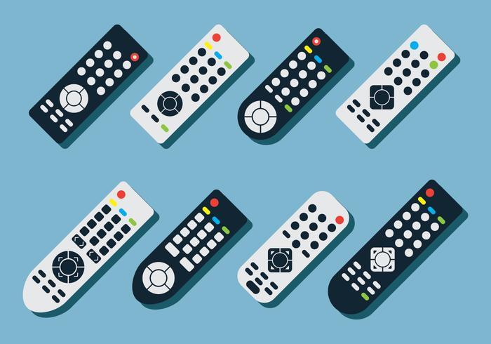 TV Remote Vector Set