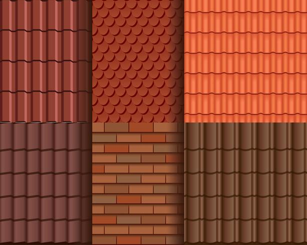 Roof Tile Seamless Pattern Wallpaper Download Free