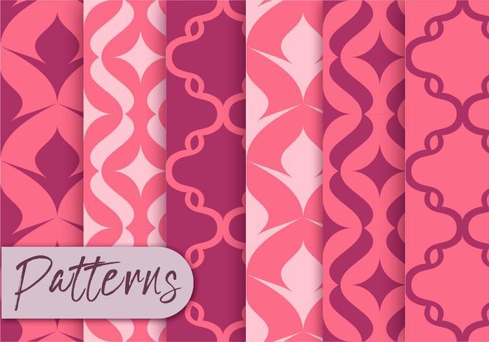 Ensemble de motifs de décor rose
