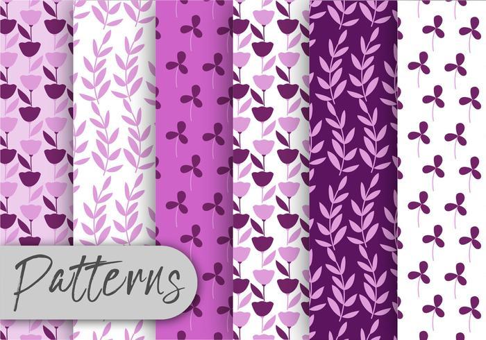 Purple Flora Pattern Set