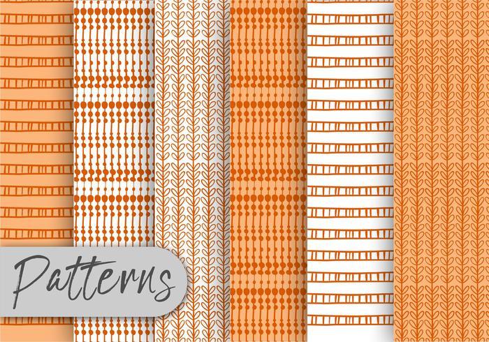 Conjunto de patrones de decoración naranja