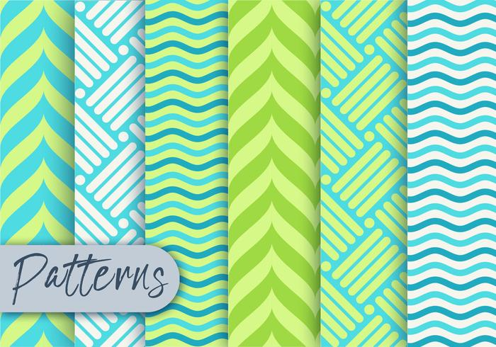 Green Geometric Pattern set