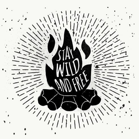 Fond de vecteur de feu de joie gratuit dessinés à la main