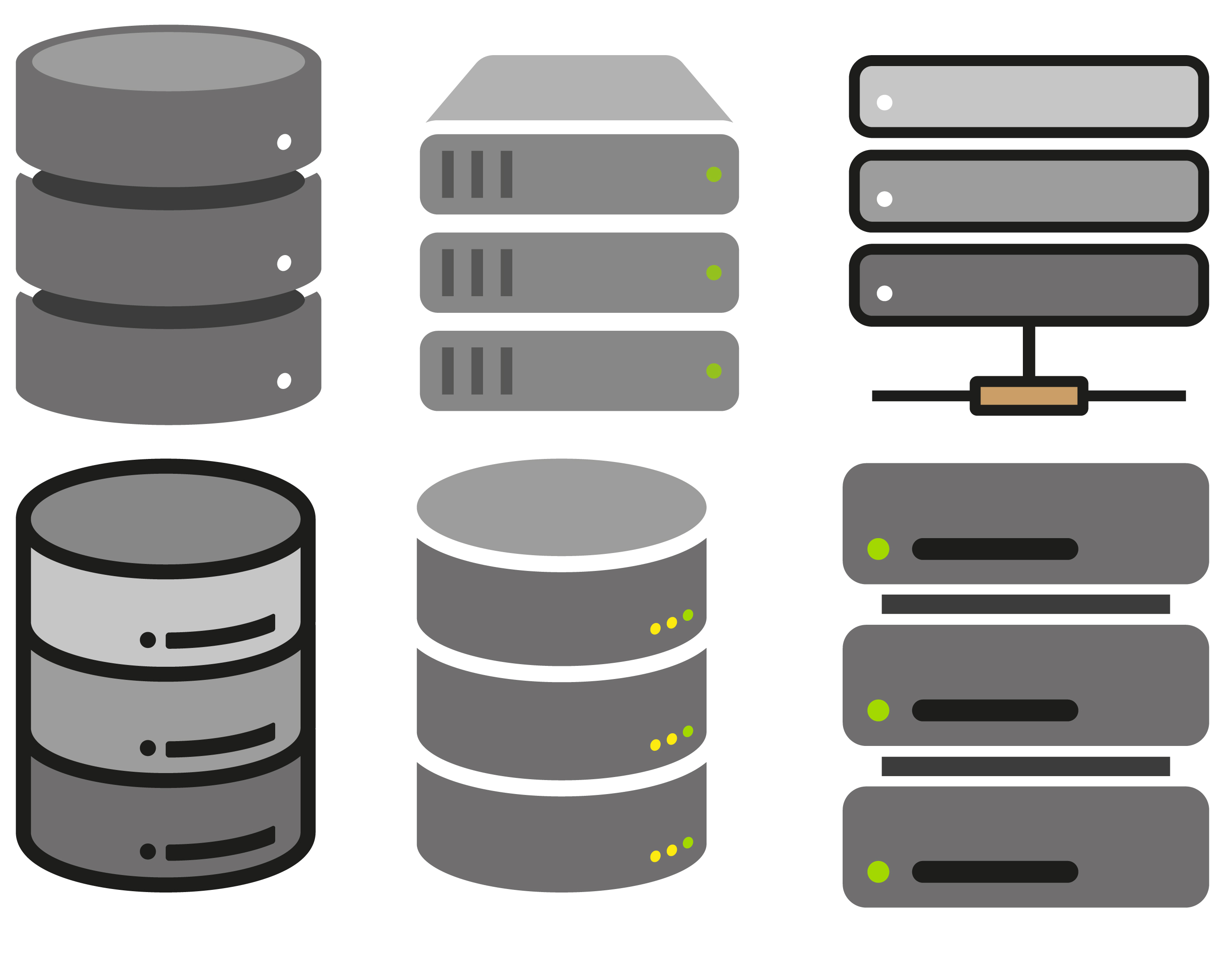 Vector Flat Database Icons - Download Free Vectors ...  Database Icon