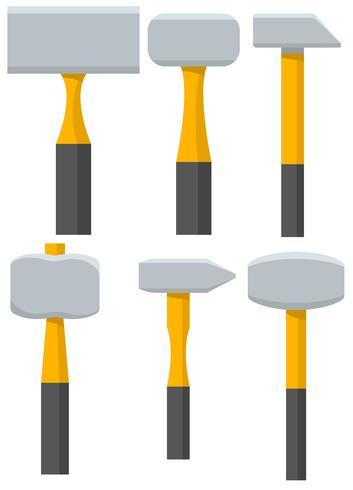 Conjunto de iconos de vector Sledgehammer