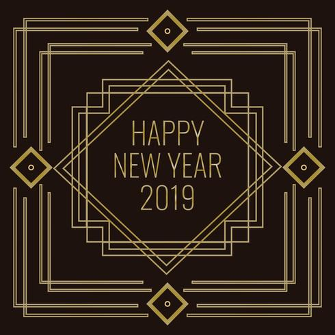 Art Deco Style Vector New Year Illustration - Download Free Vector Art, Stock Graphics & Images